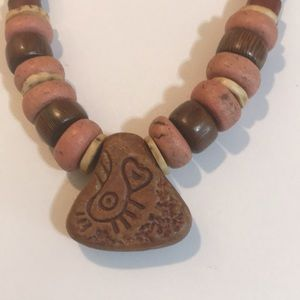 African beaded necklace.